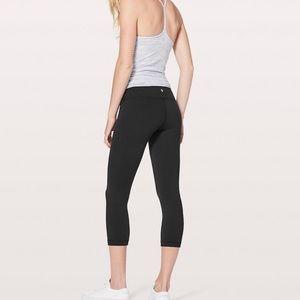Cropped black Lululemon leggings